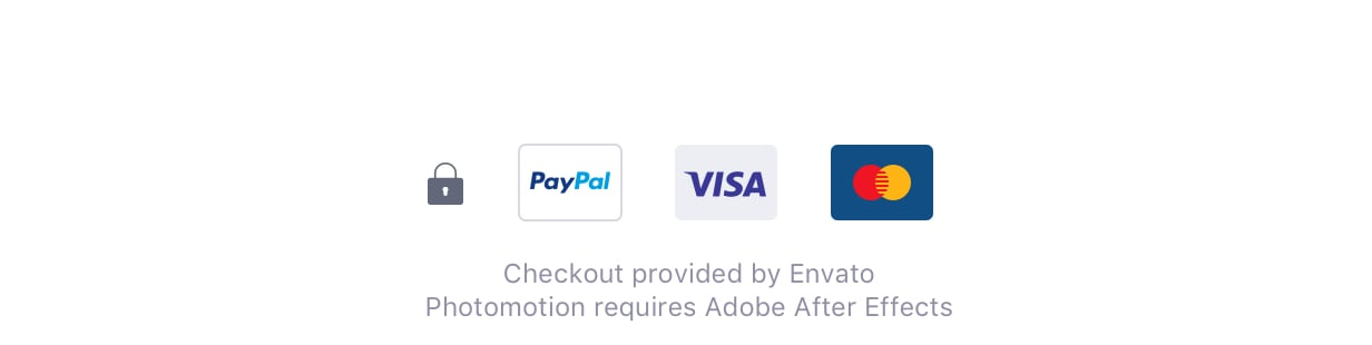 Secure checkout provided by Envato.